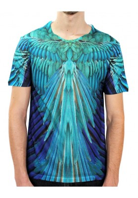 Camiseta Bird Blue Manga Curta - KK Fashion Brand