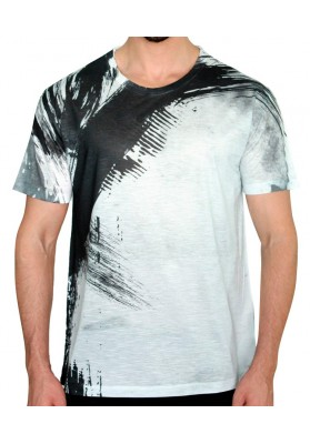 Camiseta Estampa Lateral Manga Curta - KK Fashion Brand
